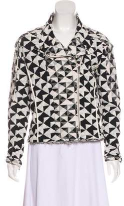 IRO Patterned Zip-Up Jacket