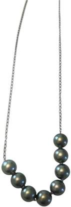 Mikimoto 18K White Gold Black South Sea Pearl Necklace