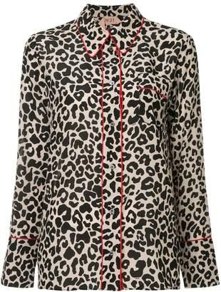 No.21 leopard print pyjama shirt