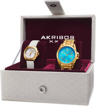 Akribos XXIV Women's Set Of Two Watches