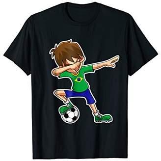 Dabbing Soccer Boy Brazil Shirt