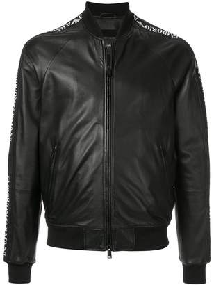 Emporio Armani logo band bomber jacket