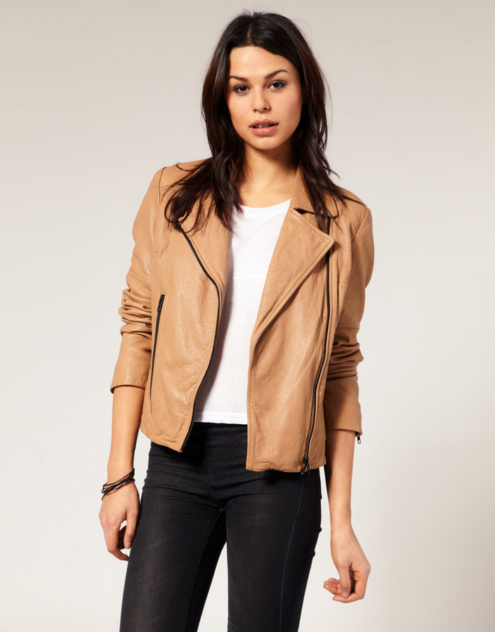 Urban Code Urbancode Chunky Zip Leather Biker Jacket
