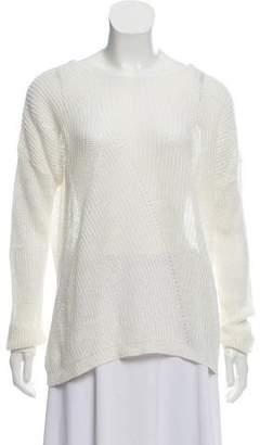 Nili Lotan Linen Long Sleeve Sweater