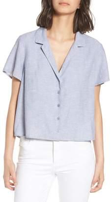 BP Linen Blend Camp Shirt