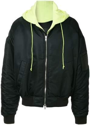 Juun.J layered oversized bomber jacket