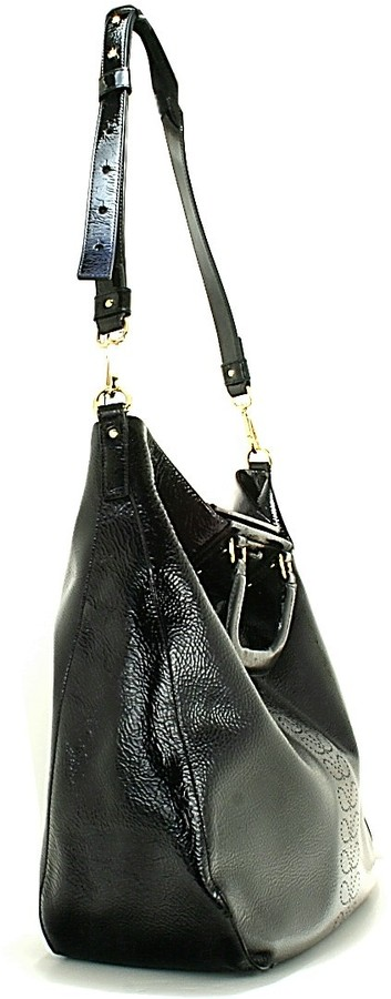 Orla Kiely Soft Patent Leather Burdock Bag - Black