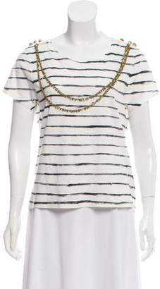 Gryphon Short Sleeve Striped Top