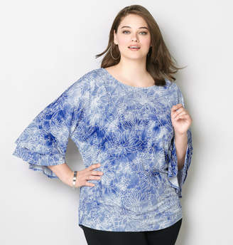 Avenue Tie Dye Double Bell Sleeve Top