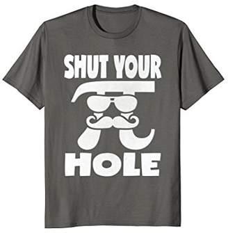 Pi Shut Your Hole Vintage Retro Infinity Math Day T-Shirt