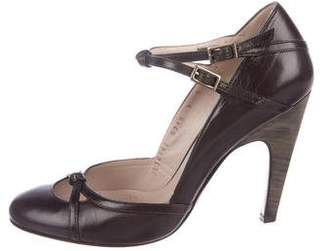 Salvatore Ferragamo Leather Ankle Strap Pumps
