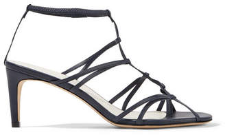 Tibi Gavin Leather Sandals - Navy