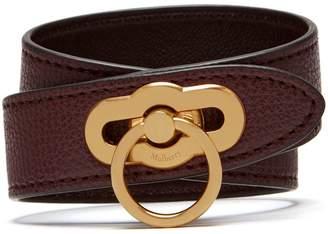 Mulberry Amberley Double Bracelet Oxblood Cross Grain Leather