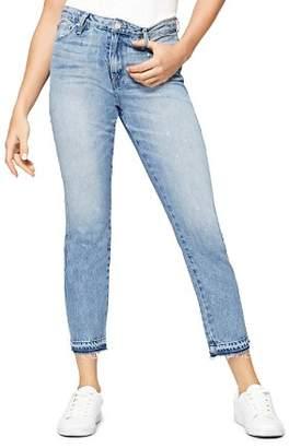 Sanctuary Released Hem Straight Jeans in Abigail Wash