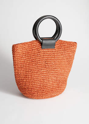 And other stories Woven Straw Tote Bag