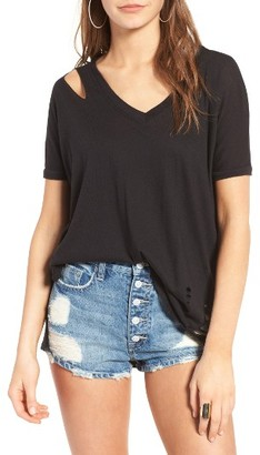 Women's Michelle By Comune Gunter Ripped Tee $44 thestylecure.com