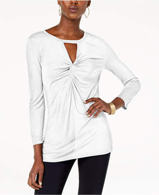INC International Concepts I.n.c. Twist-Front Keyhole Top, Created for Macy's