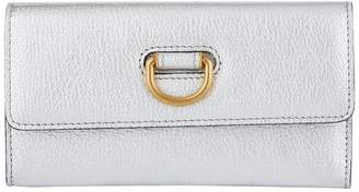 Burberry Leather D-Ring Continental Wallet