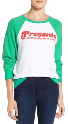 Women's Wildfox Presents Speak Louder Than Words Pullover $98 thestylecure.com
