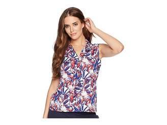 Tahari ASL Printed Matte Jersey Sleeveless Top Women's Clothing