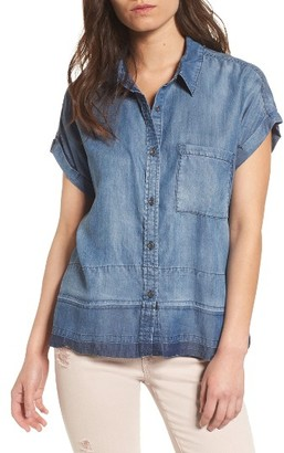 Women's Rails Courtney Released Hem Chambray Shirt $148 thestylecure.com