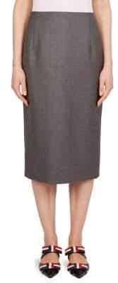 Thom Browne RWB Stripe Wool Pencil Midi Skirt