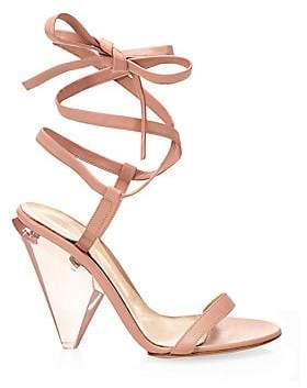 9e8918c31e9 Gianvito Rossi Women s Leather Ankle Wrap Sandals