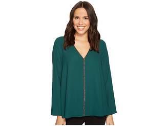 Karen Kane Sparkle Flare Sleeve Top Women's Clothing