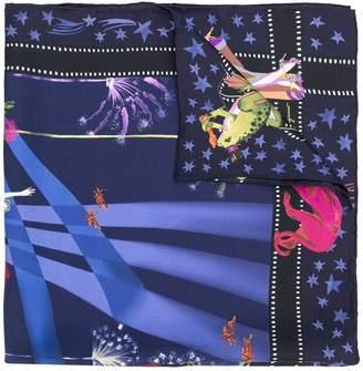Salvatore Ferragamo Hollywood print scarf