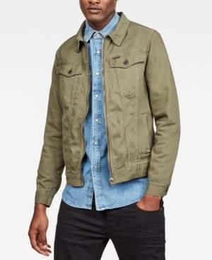 G Star Raw Men's 3301 Slim-Fit Textured Denim Jacket, Created for Macy's
