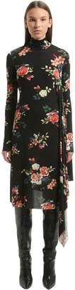 Vetements Floral Open Back Stretch Cady Dress
