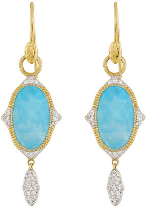 Jude Frances 18K Moroccan Oval Drop Earrings