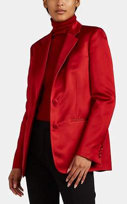 Helmut Lang Women's Satin Two-Button Blazer - Red