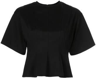 Le Ciel Bleu corset seam T-shirt