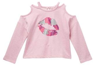Design History Cut Out Lips Pullover (Toddlers & Little Girls)