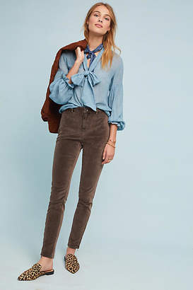Marrakech Joel High-Rise Velvet Skinny Ankle Jeans