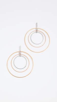 Tory Burch Square Wire Hoop Earrings