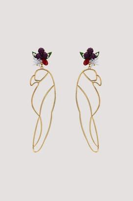 Mercedes Salazar Guacamaya Gold Earrings