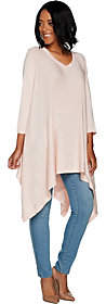 Martha Stewart V-neck 3/4 Sleeve PulloverPoncho Sweater