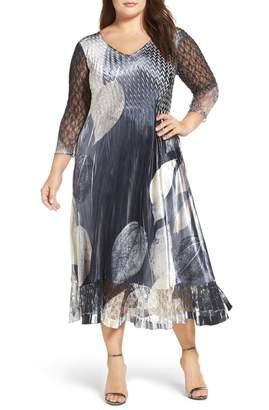 Komarov Mixed Media Midi Dress