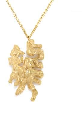 Dragon Optical Loveness Lee - Chinese Zodiac Horoscope Gold Pendant Necklace