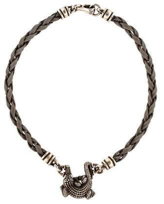 Kieselstein-Cord Alligator Twisted Chain Necklace