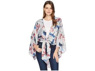 Collection XIIX Large Floral Tie Front Kimono