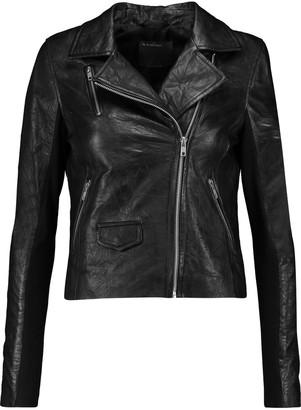 Muubaa Everdene crinkled-leather biker jacket $495 thestylecure.com