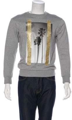 Palm Angels Palm Tree Graphic Print Sweatshirt w/ Tags