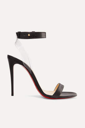 Christian Louboutin Jonatina 100 Pvc-trimmed Leather Sandals - Black