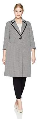 Kasper Women's Size Plus Mini DOT Knit Extended Topper