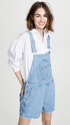 Rag & Bone Patched Short Dungaree Overalls