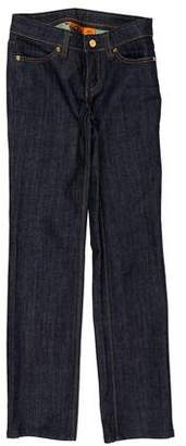 Tory Burch High-Rise Straight-Leg Pants