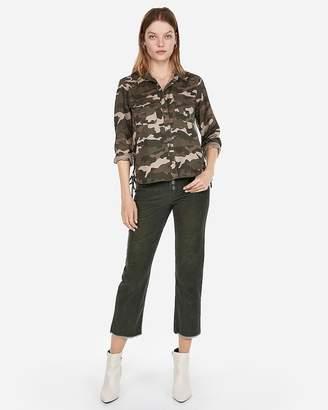 Express Camo Lace-Up Silky Soft Twill Shirt